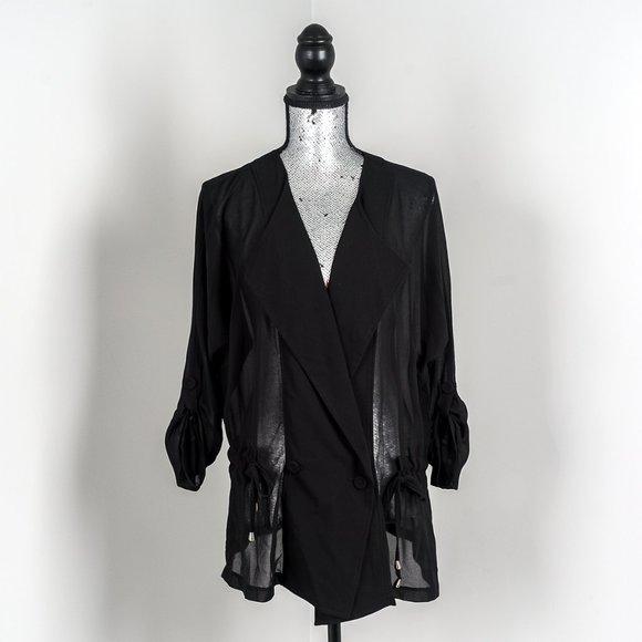 NWOT Anna Scott sheer blouse - L